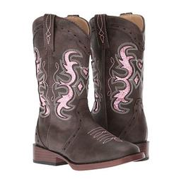 09-018-1901-0998 Roper Kids Lexi Brown Cowgirl Boots Pink Gl