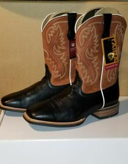 "Ariat 10002221 Quickdraw 11"" Deertan Pull On Wide Square Toe"