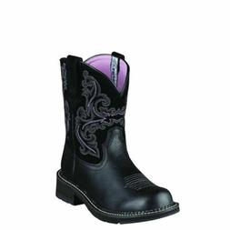 "Ariat 10004729 Fatbaby II 8"" Short Wide Calf Cowgirl Fashion"