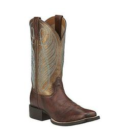10016317 Ariat Women's Round Up Wide Square Toe Western Cowb