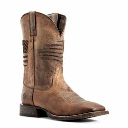 Ariat 10029699 Men's Weathered Tan Circuit Patriot Wide Squa