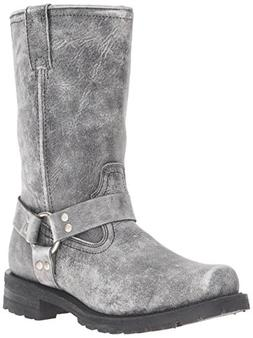 "Ride Tec Men's 1442SBK 13"" Stonewash Harness Black Work Boot"