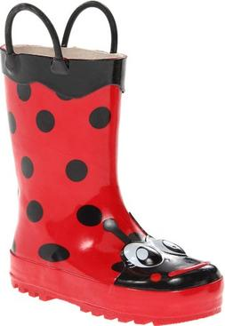 Toddler Girl's Western Chief 'Ladybug' Rain Boot, Size 9 M -
