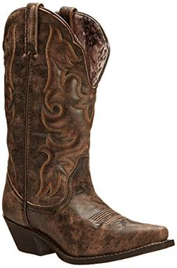 Laredo Women's Access Western Boot, Black/Tan, 6.5 M US