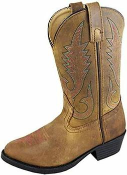 Smoky Mountain Annie Western Boot Round Toe, Brown Distress,