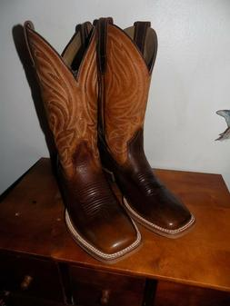 ARIAT ATS PREMIUM SQUARE TOE WESTERN NEW COWBOY BOOTS SIZE 1