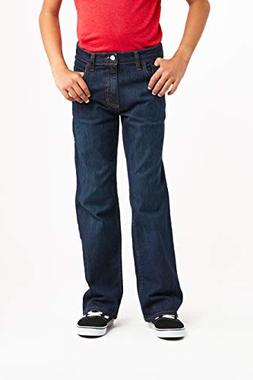 Wrangler Authentics Boys' Big Authentics Boot Cut Jeans, Fre