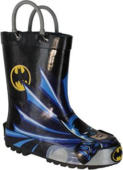 Western Chief Batman Rain Boot ,Black,13 M US Little Kid