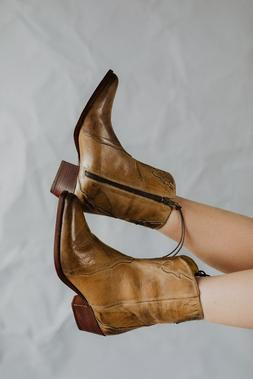 Free People *BNIB* New Frontier Western Boot in Distressed T