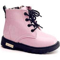 Boy S Girl S Waterproof Side Zipper Lace Up Ankle Boots Todd