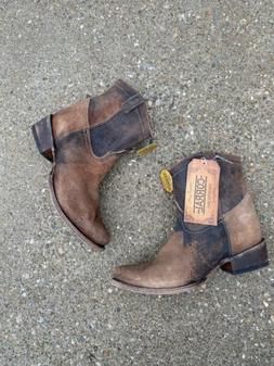 Corral Boots C1064 Chocolate/tan Cowboy Boots Size 10 Distre