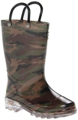 Western Chief Boys Waterproof Rain Boots that Light up with