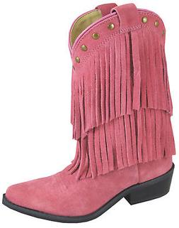 Smoky Mountain Boots Children Girls Wisteria Pink Leather Fr