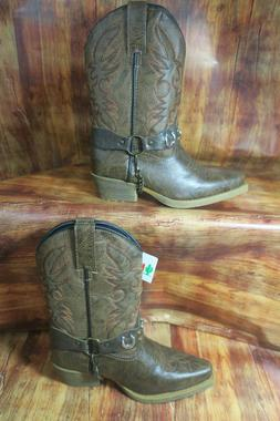 childrens 10 5 distressed western boot tan