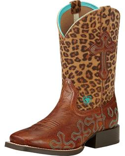 CHILDRENS /YOUTH ARIAT GIRLS SQUARE TOE CROSSROADS WESTERN B