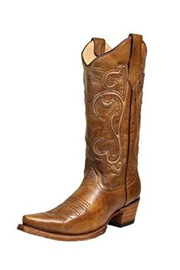 Corral Circle G Women's 13-inch Brown Corded Embroidery Snip