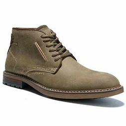 Classic round toe western dress boots, men's high-top ankle