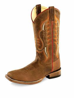 Old West Copper Mens Caprice Leather Cowboy Western Boots Bo