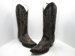 Corral Metallic Snake Print Western Boots, Women's Size:8 Me