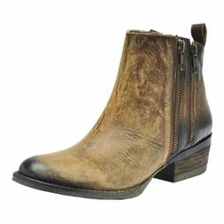 Corral Women's 6-inch Burnished Brown Double Zipper Round To