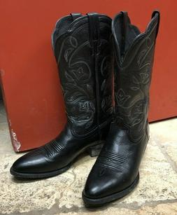 ARIAT Cowboy Boots 7.5 B Womens Deer Tanned Black Leather We