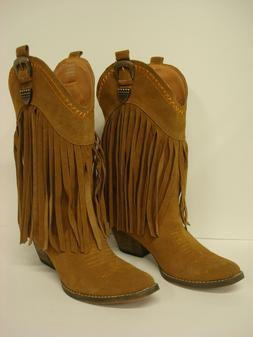 """COWGIRL WESTERN FRINGE SUEDE BOOT """"HILLSIDE"""" BY VERY VOLATIL"""