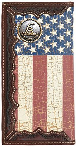 Custom Don't Tread On Me American Flag Long Wallet with a Di