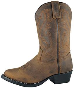 Kids Child Denver Leather Western Boot,Oil Distress Brown,12