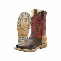 Double H DH_3568 MultiColor Brown Leather SteelToe Western B