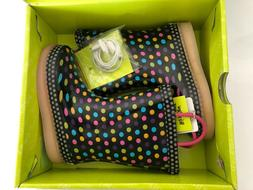 Western Chief Diva Dot Led Rain-boots Girls size 8