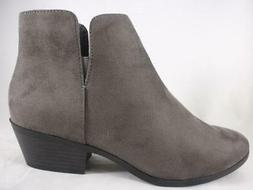 SODA Ericka Women's Ankle Boots Gray Western Zip Up Casual B