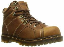 Dr. Martens Men's Fynn Western Boot, Tan, 9 UK/10 M US