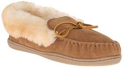Women's Minnetonka 'Alpine' Genuine Shearling Moccasin Slipp