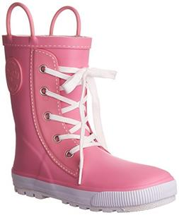 Western Chief Girls Printed Rain Boot, Sneaker Pink, 7 M US