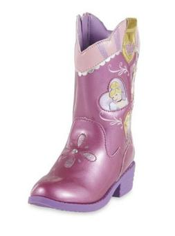 DISNEY GIRLS TODDLER PRINCESS WESTERN BOOTS SIZE 6  CINDEREL