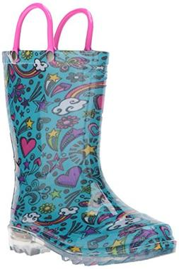 Western Chief Girls Waterproof Rain Boots that Light up with