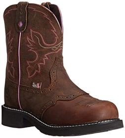Justin Women's Gypsy Work Boot Round Steel Toe Aged Bark 10