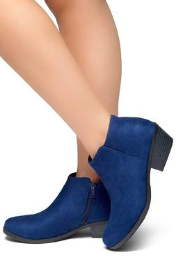 Herstyle Chatter Women's Western Ankle Bootie Closed Toe Cas