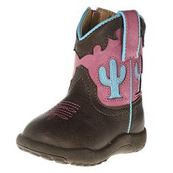 Roper Infant-Girls' Cow Cactus Pre-Walker Cowgirl Boot Round