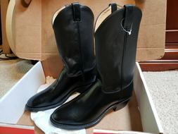 Justin Western Boots Black MEN'S 11 D MODEL 3040 Made in USA