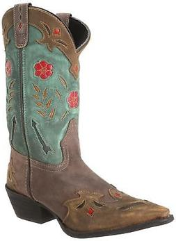Laredo Women's Miss Kate Western Boot,Brown/Teal,7 M US