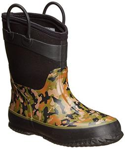 kids cold rated neoprene boot camo green