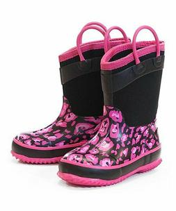 Western Chief Kids Cold Rated Neoprene Boot, pink leopard, 7