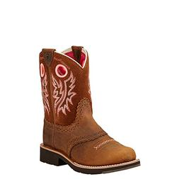 Kids' Fatbaby Cowgirl Western Boot , Powder Brown/Western Br