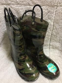 Western Chief Kids Size 11/12 Rain Boots Camouflage Light Up