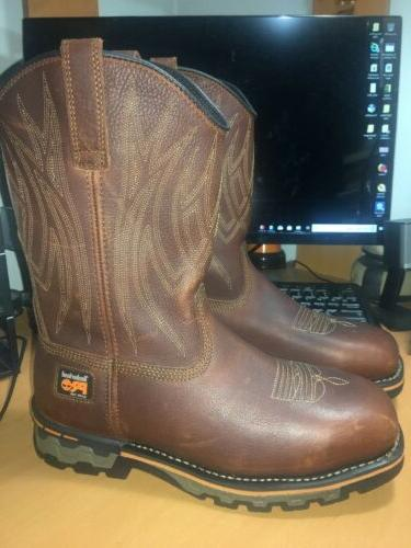 Timberland Toe Cowboy Boots Brown W New