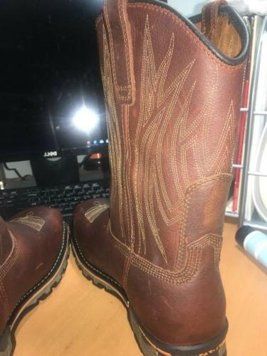Timberland PRO Toe Cowboy Leather Brown Men's