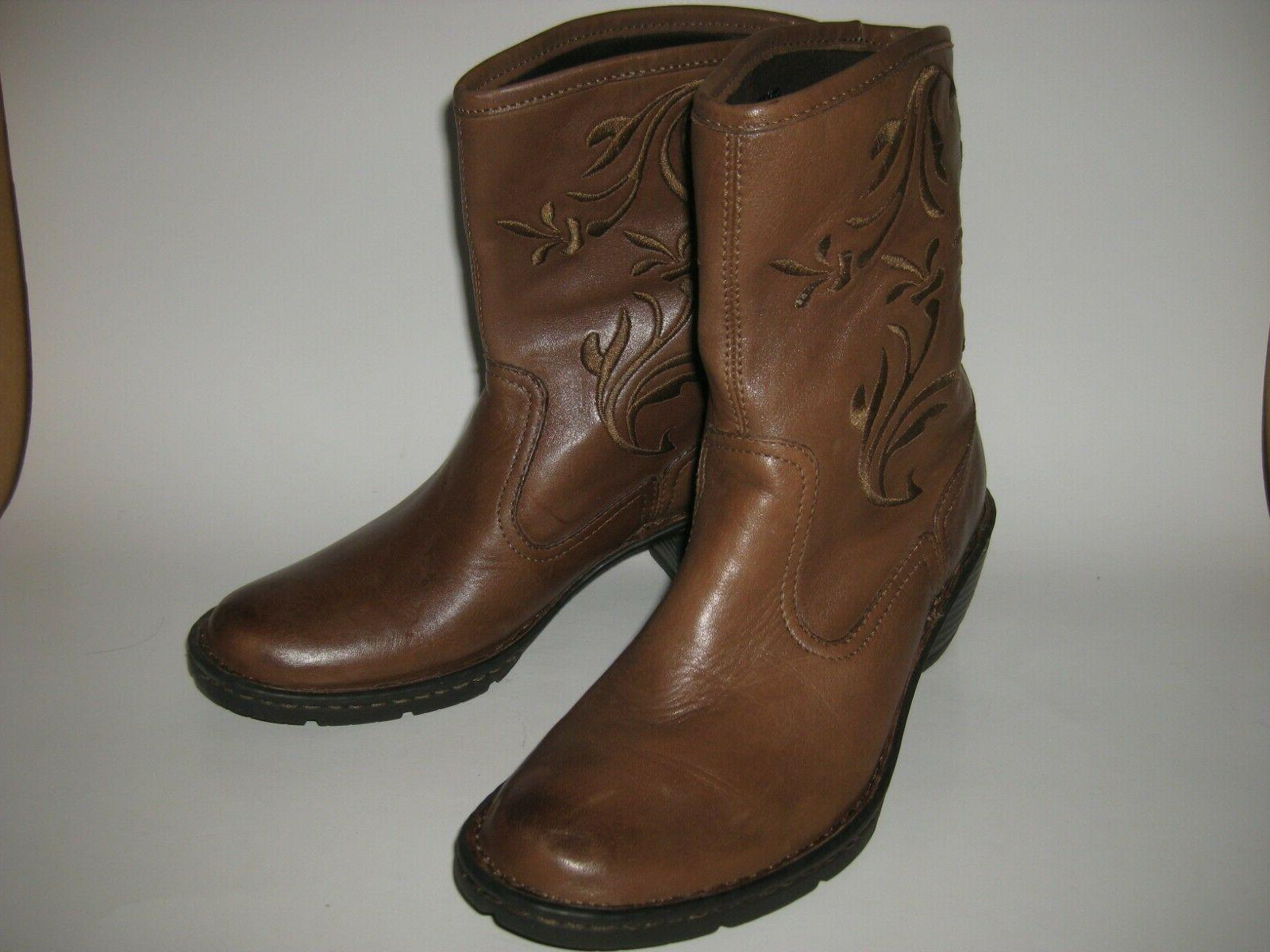 amelia brown western style boots shoes womens