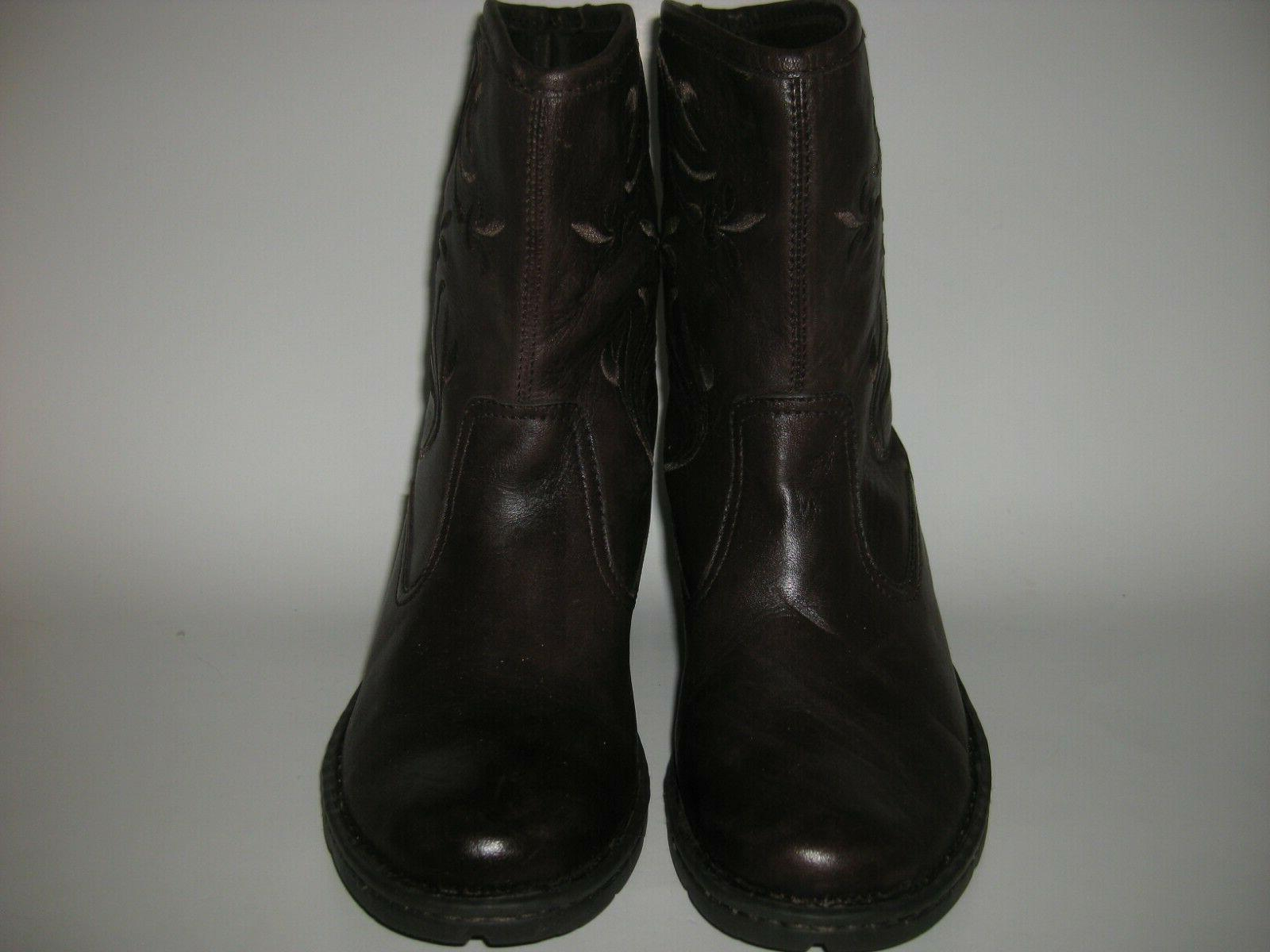 Eastland Amelia Dark Brown Western Style Boots Shoes 3329-02 _