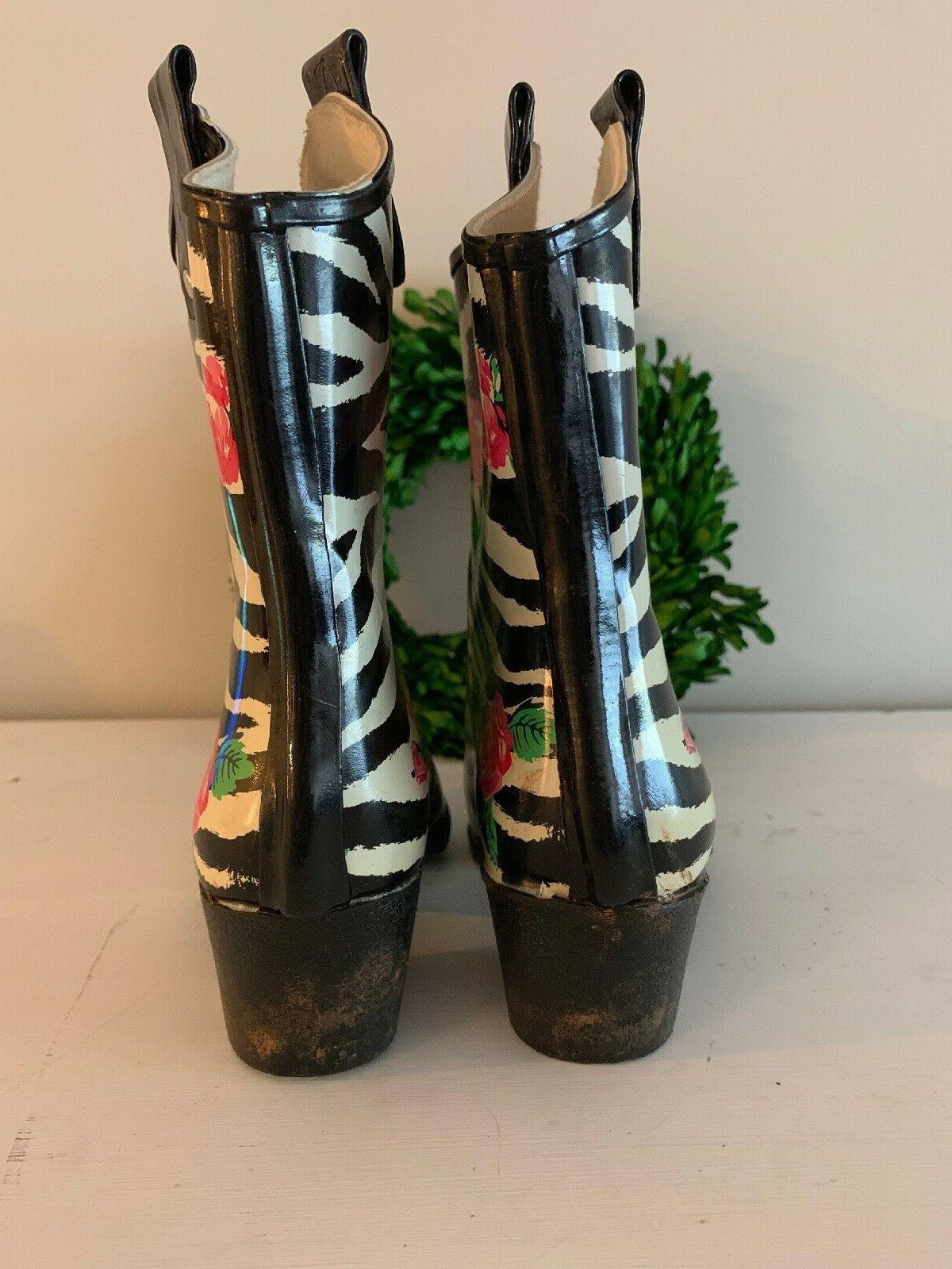 NOMAD Rain YIPPY Boots Floral Rose Girls